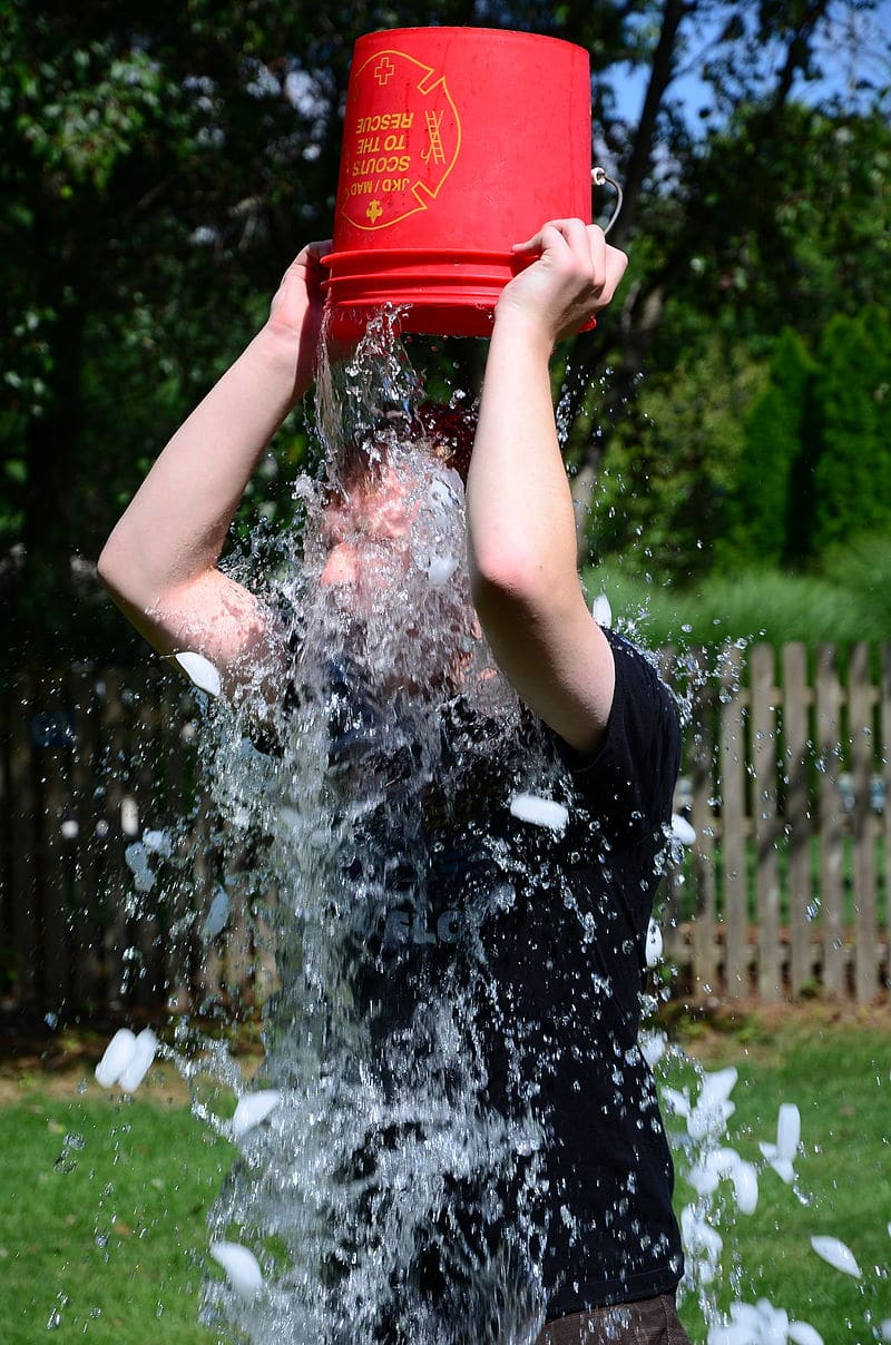 Doing the ALS Ice Bucket Challenge