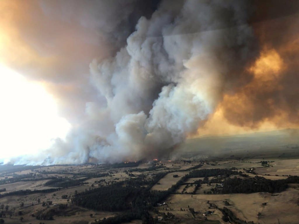 Smoke billows during bushfires in Buchan, Victoria, Australia, December 30, 2019