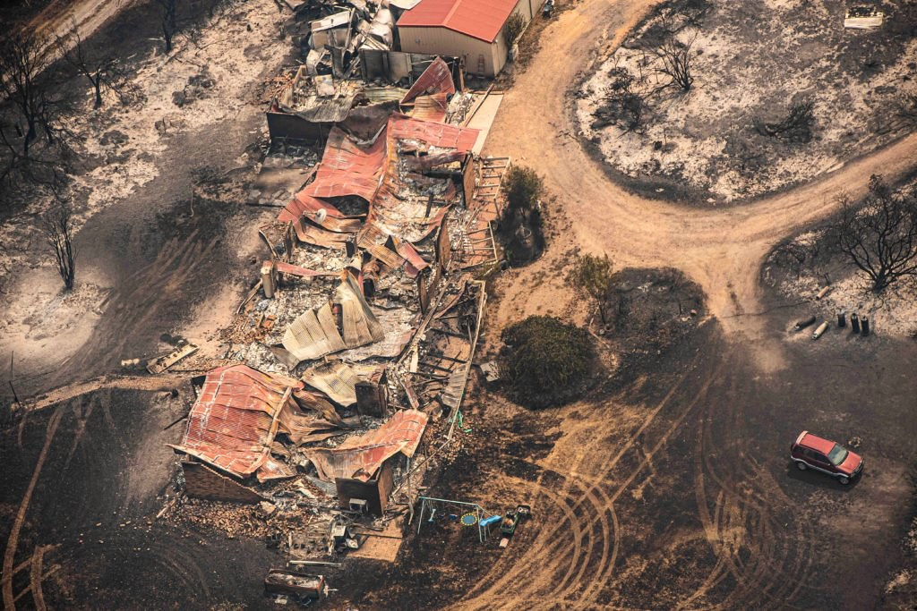 Property damaged by the East Gippsland fires in Sarsfield